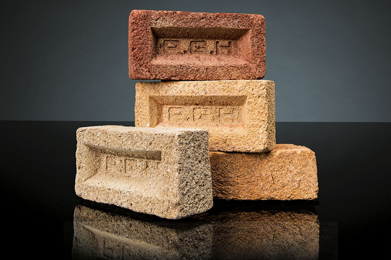Clay bricks that are part of the PGH Sandstocks Masters collection.