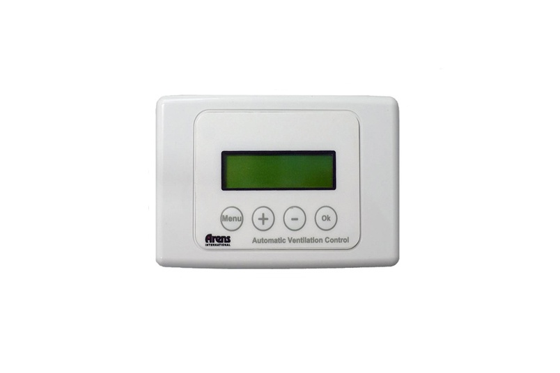 Arens International's automatic ventilation control system is able to coordinate the ventilation of up to eight rooms.