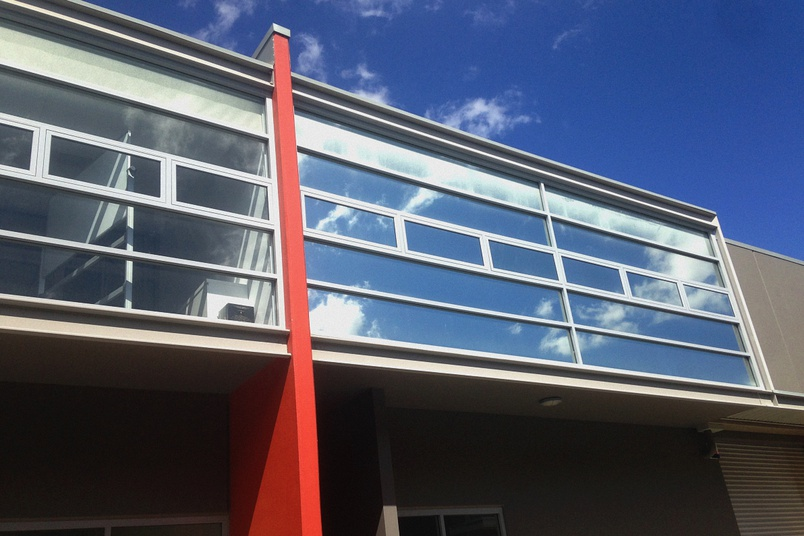 An external view of the Solartite high-performance window film.