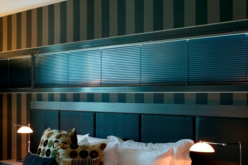 Easytilt System 2.1b. Midnight Aluminium Venetian Blind … no ladder holes to let the light in.