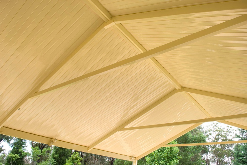 Stramit Sunset patio roof panels.